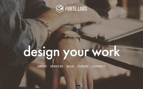 Screenshot of Home Page fortelabs.co - Forte Labs - captured Aug. 3, 2015