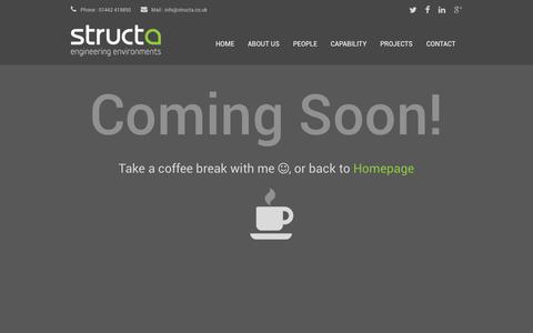 Screenshot of Press Page structa.co.uk - Structa LLP | Consulting Engineers - captured Oct. 8, 2014