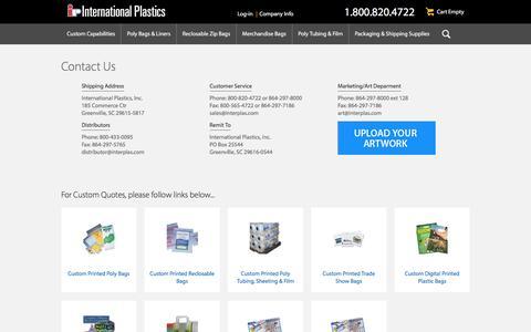 International Plastics Contact Us