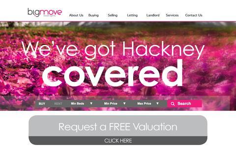 Screenshot of Home Page bigmove.uk.com - bigmove Estate Agent - captured Sept. 27, 2016