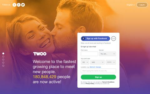 Screenshot of Signup Page twoo.com - Twoo - Meet New People - captured Oct. 16, 2016