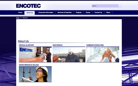 Screenshot of About Page encotec.az - About Us  - Encotec - captured Sept. 26, 2014