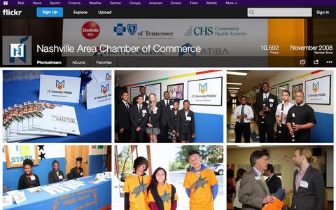 Screenshot of Flickr Page flickr.com - Flickr: Nashville Area Chamber of Commerce's Photostream - captured Nov. 4, 2014