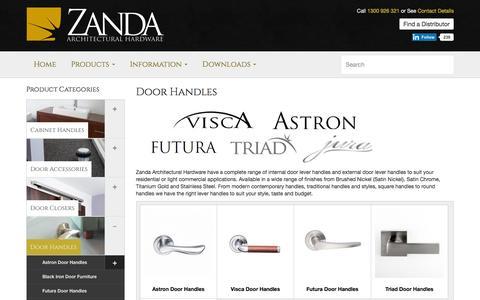 Door Furniture | Zanda Architectural hardware