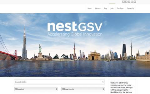 Screenshot of Jobs Page nestgsv.com - Jobs - captured Oct. 26, 2014