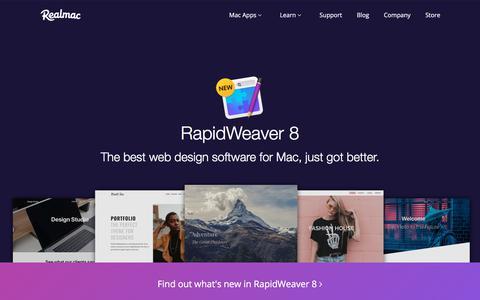 Screenshot of Home Page realmacsoftware.com - Realmac Software — RapidWeaver Web Design Software for Mac - captured Aug. 19, 2018