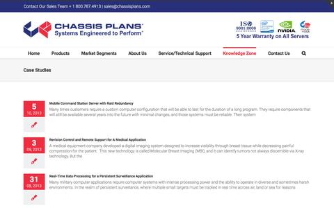 Screenshot of Case Studies Page chassis-plans.com - Case Studies for Rugged Military and Industrial Computers - captured Dec. 5, 2015