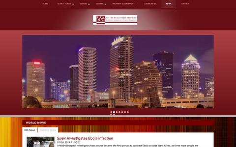Screenshot of Press Page vaccer.com - The Real Estate Blog with Current Information for Wesley Chapel H - captured Oct. 7, 2014