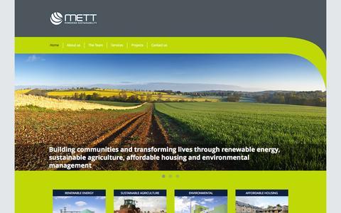 Screenshot of Home Page mettgroup.com - Home - Mett Group : Mett Group - captured Feb. 10, 2016