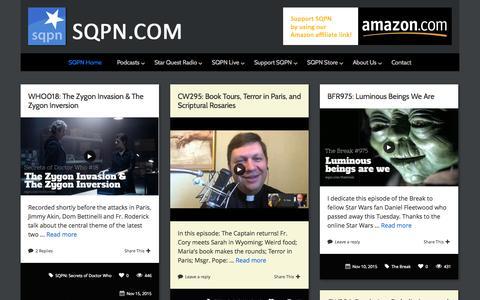 Screenshot of Home Page sqpn.com - SQPN.com - Leading the Way - captured Nov. 17, 2015