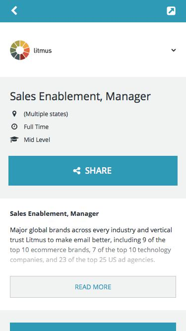 Sales Enablement, Manager -        Litmus -         Career Page
