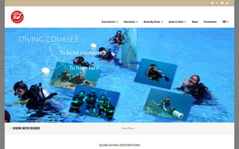 Screenshot of Home Page euro-divers.com - Diving in Maldives Egypt Thailand Oman Japan Spain Croatia - captured Sept. 22, 2018