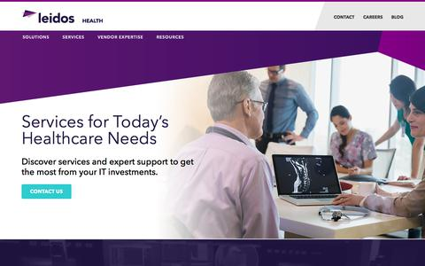 Screenshot of Services Page leidos.com - Health IT Services | Leidos Health - captured Aug. 18, 2017