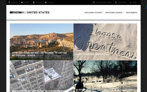 Screenshot of Blog aiesecus.org - AIESEC in the United States – Sharing perspectives from all over the world - captured Feb. 4, 2016