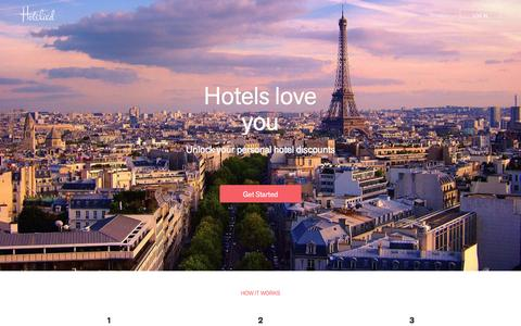 Screenshot of Home Page hotelied.com - Hotelied - captured Feb. 5, 2016