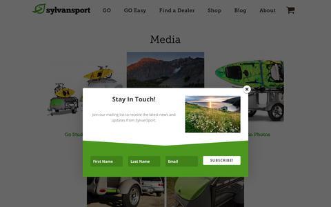 Screenshot of Press Page sylvansport.com - Media - SylvanSport - captured Sept. 21, 2018