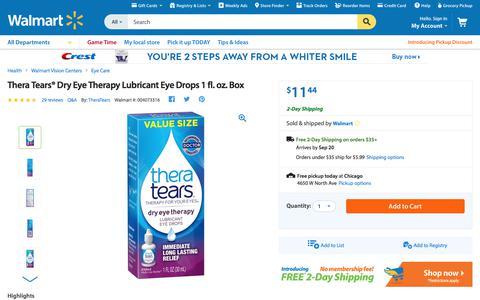 Thera Tears® Dry Eye Therapy Lubricant Eye Drops 1 fl. oz. Box - Walmart.com