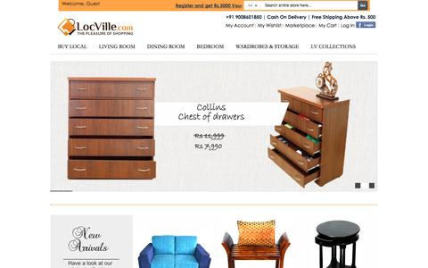 Screenshot of Home Page locville.com - Locville Online Shopping - Bags, Kitchenware, Phone Cases, Furnishings, Decor, Furniture - captured Oct. 23, 2015