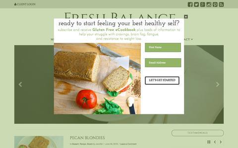 Screenshot of Blog freshbalancenutrition.com - Fresh Balance Nutrition Blog of Recipes and Healthy Nutrition - captured July 5, 2018