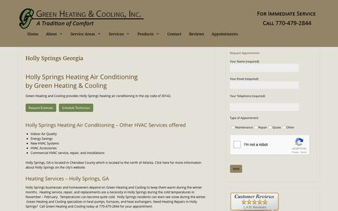 Holly Springs Heating Air Conditioning by Green Heating and Cooling