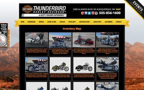 Screenshot of Site Map Page thunderbirdhd.com - Inventorymap | Thunderbird Harley-Davidson® | Albuquerque New Mexico - captured Feb. 16, 2016