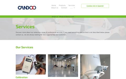 Screenshot of Services Page candoosys.com - Services offered by Candoo Systems Inc. - captured Sept. 26, 2018