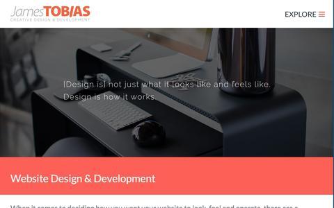 Screenshot of Services Page jamestobiascreative.com - Website Design & Development - captured March 3, 2016