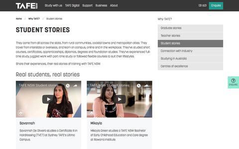 Student Stories - Read Their Journeys - TAFE NSW