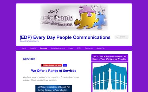 Screenshot of Services Page edpcommunications.com - Services | (EDP) Every Day People Communications - captured Nov. 28, 2016