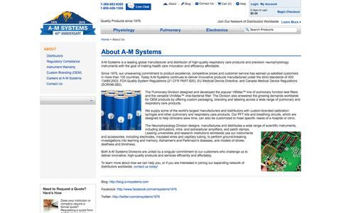 Screenshot of About Page a-msystems.com - About A-M Systems - captured Feb. 2, 2016