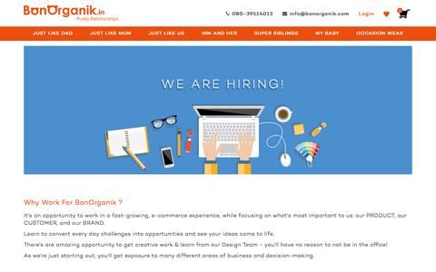 Screenshot of Jobs Page bonorganik.in - We are hiring – bonorganik.in - captured July 30, 2016