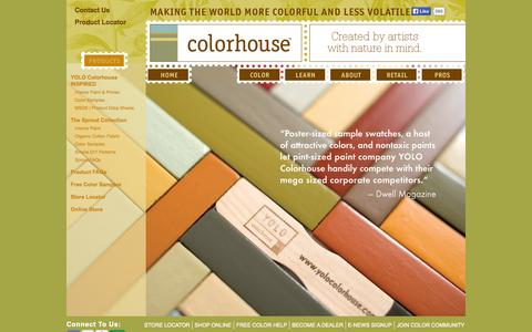 Screenshot of Products Page yolocolorhouse.com - Eco Friendly Paint Products |  YOLO Colorhouse Paint - captured Sept. 23, 2014