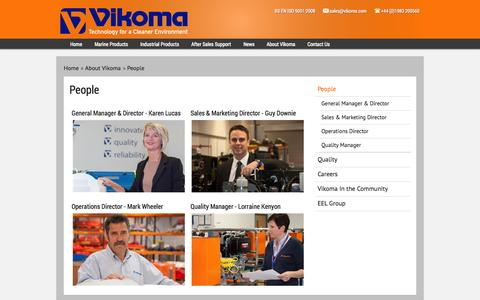 Screenshot of Team Page vikoma.com - People - captured Oct. 9, 2014