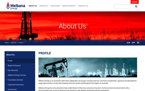 Screenshot of About Page meoaustralia.com.au - About            Us | Melbana Energy Limited - captured Nov. 28, 2016