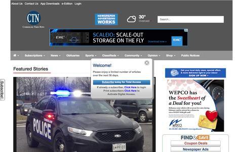 Screenshot of Home Page times-news.com - times-news.com - captured Feb. 2, 2016