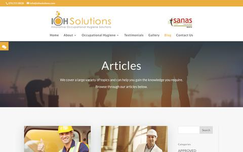 Screenshot of Blog iohsolutions.com - Blog | Occupational Health & Safety | IOH Solutions - captured July 27, 2018