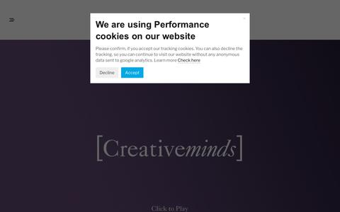 Screenshot of About Page creative-minds.uk.com - Creativeminds - About Us - captured Sept. 30, 2018