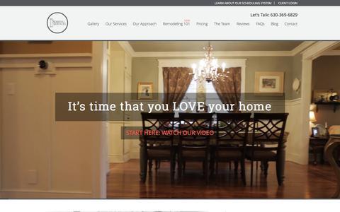 Screenshot of Home Page sebringservices.com - Sebring Services | Home Remodeling Naperville IL - captured Jan. 12, 2016
