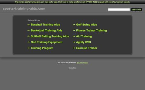 Screenshot of Home Page sports-training-aids.com - Sports-Training-Aids.com - captured Feb. 1, 2016
