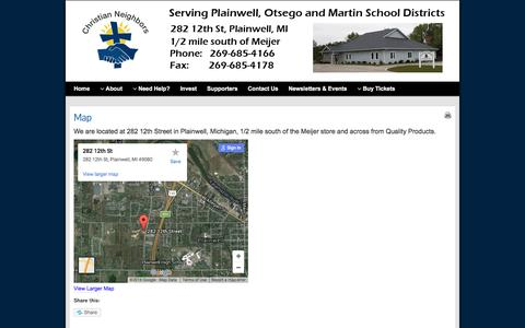 Screenshot of Maps & Directions Page christianneighbors.org - Map - christianneighbors.org - captured July 13, 2016