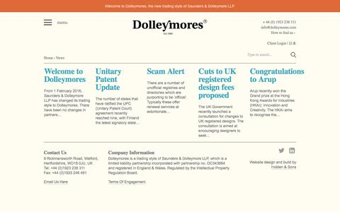 Screenshot of Press Page dolleymores.com - News - Dolleymores - captured Feb. 4, 2016