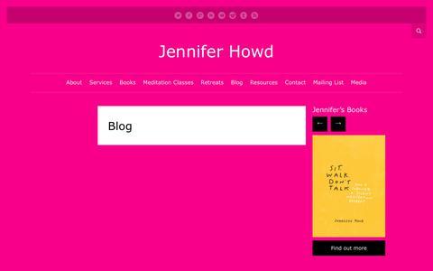 Screenshot of Blog jenniferhowd.com - Blog   Jennifer Howd - captured Sept. 14, 2017