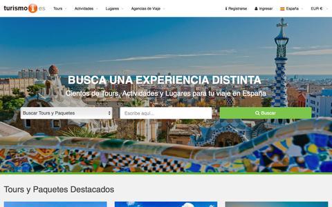 Screenshot of Home Page turismoi.es - TURISMO EN ESPAÑA Turismoi.es - Buscador de Turismo de España - captured March 8, 2016