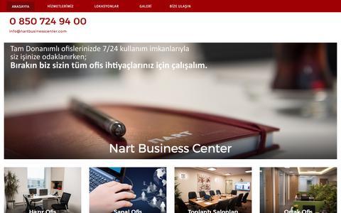 Screenshot of Home Page nartbusinesscenter.com - 0 850 724 94 00 – info@nartbusinesscenter.com - captured June 11, 2017