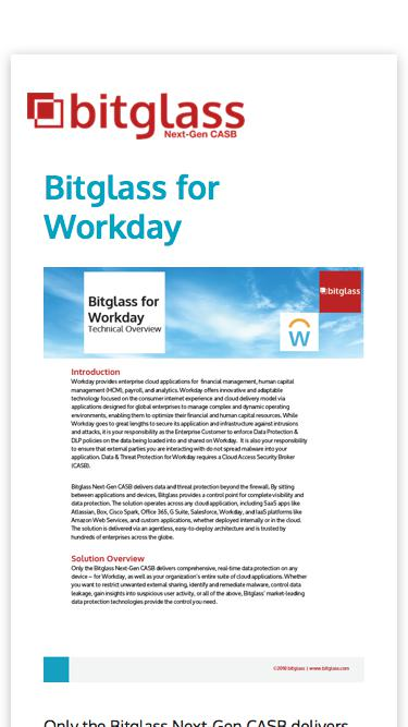 Bitglass for Workday Technical Overview
