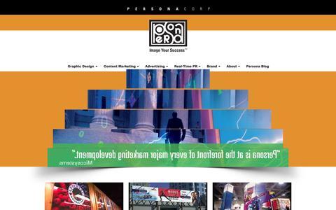 Screenshot of Press Page personaco.com - Media Archives - Persona Corp — Image Your Success - captured Nov. 1, 2014