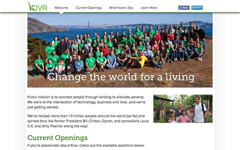 Kiva - Work at Kiva