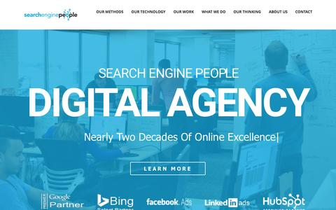 Screenshot of Home Page searchenginepeople.com - Canada's Best SEO (Search Engine Optimization) PPC Company | SEP - captured March 13, 2017