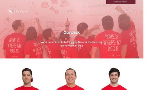 Screenshot of Team Page dogsync.com - DogSync - Our team - captured Dec. 3, 2015