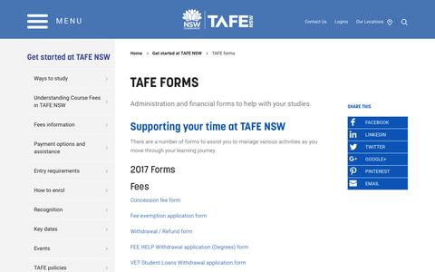 TAFE forms - TAFE